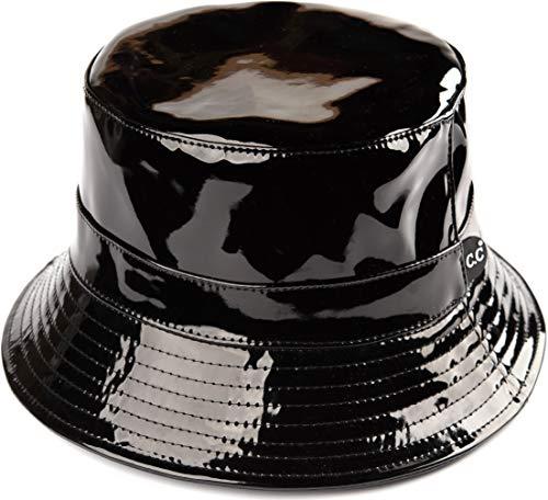 Funky Junque Bucket Hat Packable Outdoor Hiking Camping Fishing Rain Boonie Cap (Waterproof - Black)