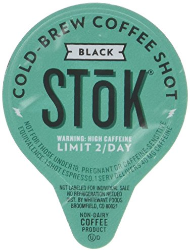 SToK, Caffeinated Black Coffee Shots, 264-Count Single-Serve Packages, Single-Serve Shot of Unsweetened Coffee, 40mg Caffeine (Packaging May vary)