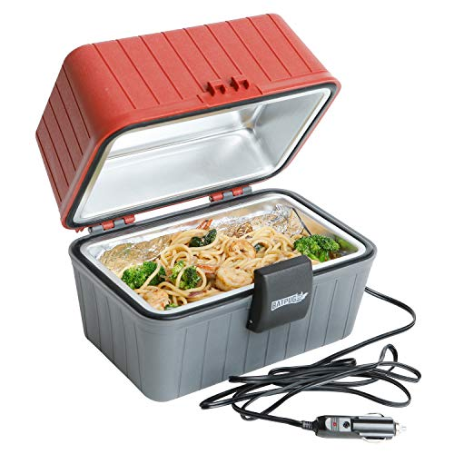 Batpug 12 Volt Portable Food Warmer - with Built in LED Light and 12 Month Warranty