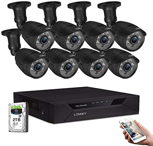 LONNKY-8-Channel-Full-1080P-Security-Camera-System5-in-1-Surveillance-DVR-Recorder-with-2TB-HDD-and-8PCS-2MP-Outdoor-Bullet-CamerasFree-AppEmail-Alerts