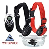 1000 Yard Waterproof 2 Dog Shock Training Collar with Remote Rechargeable 4level