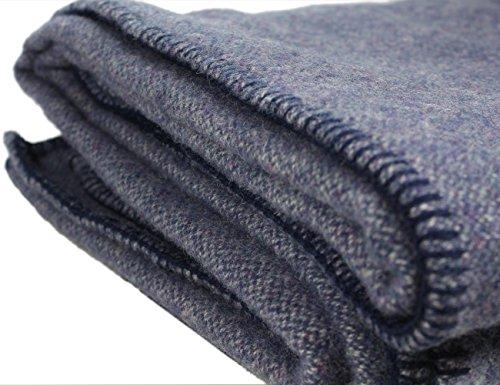 Kerry Woollen Mills Irish Wool Blanket, Blackberry