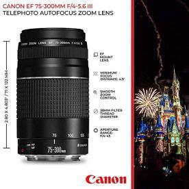 Canon-EOS-Rebel-T7-Digital-SLR-Camera-Body-EF-S-18-55mm-f35-56-IS-II-EF-75-300mm-f4-56-III-Lens-EOS-Shoulder-Bag-Transcend-64GB-SD-Memory-Card-P4L-Cleaning-Cloth--Ultimate-Canon-Bundle