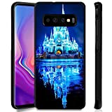 DISNEY COLLECTION Phone Case Compatible Samsung Galaxy S10 Plus Disney Castle in The Night Anti-Slip Shockproof Protective Tired Case Cover for Galaxy S10 Plus 6.4Inch