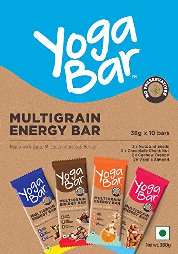 Yogabars Multigrain Energy Bars Variety Box - 38gm x 10 Bars 2