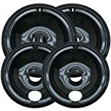 2 of WB31M20 and 2 of WB31M19 GE Range Cooktop Porcelain Drip Pan Bowls Model: WB31M19 & WB31M20 2 each