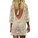 Jeasona Women's Bathing Suit Cover Up Crochet Lace Bikini Swimsuit...
