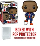 POP! Sports Soccer Paris Saint Germain's, Kylian Mbappe #21 Action Figure (Bundled with Pop Box Protector to Protect Display Box)