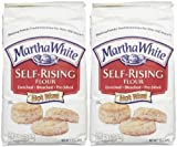 Martha White Self Rising Bleached Flour, 80 oz, 2 pk