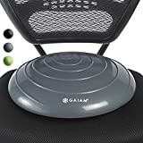 Gaiam Balance Disc Wobble Cushion Stability Core Trainer for Home or Office Desk Chair & Kids Classroom Sensory Wiggle Seat, Grey