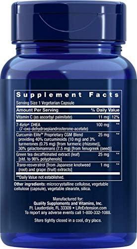Life Extension 7-Keto dhea Metabolite, 60 Vegetarian Capsules 5