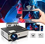 Projector WiFi Bluetooth 3500 Lumens 1080P Supported 200' Multimedia Home Theater Cinema Projector Android6.0-50,000 Hours LED Full HD Video Projector, Compatible with HDMI USB (Latest Upgrade)