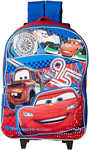 Disney Cars Rolling 16' Backpack, Red/Blue, Large