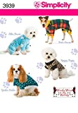 Simplicity Pajama and Coat Dog Clothing Sewing Pattern, Pet Sizes S-L