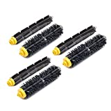 Neutop 3 Sets Bristle & Flexible Beater Brush Set Replacement for iRobot Roomba 600 and 700 Series 614 618 620 621 630 635 640 645 650 652 655 660 665 671 675 680 690 695 760 761 770 780 790 Models.