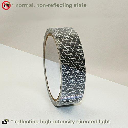 Reflexite REF-DB Retroreflective V92 Daybright Tape: 1 in. x 15 ft. (Silver-White) by Reflexite