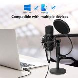 USB-Streaming-Podcast-PC-MicrophoneProfessional-Computer-Mic-Podcast-Mic-192kHz24bit-Studio-Cardioid-Condenser-Mic-Kit-with-Sound-Card-Desktop-Stand-Shock-Mount-Pop-Filter-for-Skype-Youtuber-Gaming