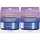 L'Oréal Paris Skincare Collagen Face Moisturizer, Day and Night Cream Collagen Moisture Filler, 2 count