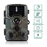 FLAGPOWER Trail Camera 16MP 1080P Hunting Game Camera with Night Vision Motion Activated IP66 Waterproof 120°Detecting Range Motion Activated Night Vision 2.4' LCD IR LEDs 32 GB Memory Card