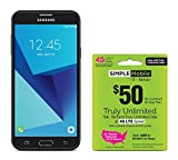 Simple Mobile Samsung Galaxy J7 Sky Pro 4G LTE Prepaid Smartphone with Free $50 Unlimited Bundle