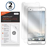 HTC One X9 Screen Protector, BoxWave [ClearTouch Anti-Glare (2-Pack)] Anti-Fingerprint Matte Film Skin for HTC One X9