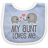 Inktastic - My Aunt Loves Me gift Baby Bib Blue/White 230e8