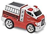 Kid Galaxy Jumbo Soft and Squeezable Fire Truck. Toddler Light and Sound Effects Emergency Vehicle