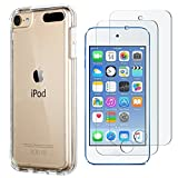 ULAK iPod Touch Case with 2 Screen Protectors,iPod 6 Cases, Clear Slim Soft TPU Bumper Case for iPod Touch 5/6th/7th Generation Hard Cover (Clear)