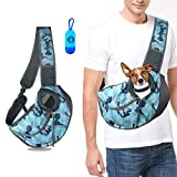 U-pick Pet Sling Carrier Bag - Hands Free Travel Bag for Small and Medium Dog Cat,Adjustable Shoulder Strap Outdoor Tote Pet Carrying Bag with Safety Strap&Pocket, Breathable,Waterproof,Up to 15 lbs