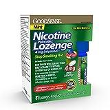 GoodSense Mini Nicotine Polacrilex Lozenge 4mg, Mint, 81-Count, Stop Smoking Aid, GoodSense Smoking Cessation Products