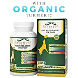 All-Natural Hip & Joint Supplement for Dogs - with Glucosamine, Chondroitin, MSM, and Organic Turmeric - Improves Mobility and Eases Discomfort Best for Large & Small Dog - 90 Chewable Treats
