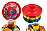 Great Plate Food Beverage Plate Multi-Color, Red/Green/Blue/Yellow, 12 Count