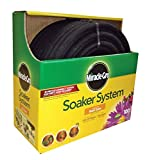 Swan Products MGSPAK38100CC Miracle-GRO Soaker System Customizable Hose with Push on Fittings, 100' x 3/8', Black