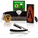 ~Shave Ready~ Shaving Straight Razor 6/8' GD w/Box 208 Gold Dollar Straight Razor, The Blades Grim Soap, Synthetic Shaving Brush, GB Buckingham Strop - Complete Straight Razor Set