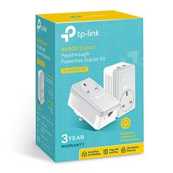 TP-Link TL-PA4022PKIT Powerline Adapter Starter Kit, No Configuration Required, UK Plug