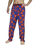 Mens SUPERMAN (MAN OF STEEL) Cotton Sleepwear / Pajama Pants XL Multicolor
