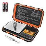 (New Version) Brifit Professional Digital Mini Scale, 20g-0.001g Pocket Scale, Electronic Smart Scale with 20g calibration weight (Battery/Tweezers Included)