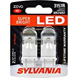 SYLVANIA - 3157 ZEVO LED Red Bulb - Bright LED Bulb, Ideal for Stop and Tail Lights (Contains 2 Bulbs)