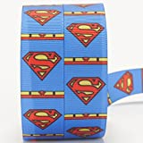 "10yards 7/8""22mm superman logo ribbon printed Grosgrain Ribbon"