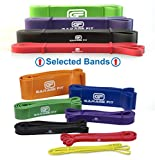 Garage Fit Pull up Assist Bands - Heavy Duty Resistance Bands, Mobility Bands for Cross Training, Exercise Resistance for Gymnastics (Bundle #1 Red #2 Black #3 Purple #4 Green)