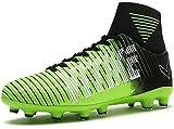 Littleplum Kids Soccer Cleats Shoes Football Boots Cleats High-top Sock Shock Buffer Outdoor(Little Kid/Big Kid)