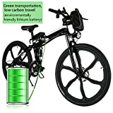 Hurbo 250W/350W Folding Electric Bike Aluminum Alloy Frame 36V Large Capacity Powerful Lithium-Ion Battery [US Stock] (26' 36V 250W - Black)