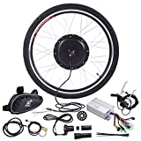 JAXPETY 36V 500W Electric Bicycle Cycle 26' E Bike Front Wheel Ebike Hub Motor Conversion Kit Hub Motor Wheel