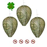 Outward Creations Wasp Nest Decoy - 3 Pack - Hanging Wasp Repellent and Deterrent- Safe Decoy