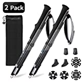 NGOZI Trekking Poles, Walking Sticks Collapsible Lightweight Aluminum Snow Shoes Poles for Hiking/Camping/Mountainin/Backpacking 1 Set(2 Poles)