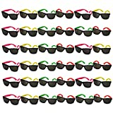 Funny Party Hats Neon Sunglasses- 36 Pack - Bulk Sunglasses - Party Glasses - Pool Party - Beach Party Favors