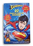 Superman 32 Punch-Out Stand-Up Valentine Cards, Includes Teachers Card