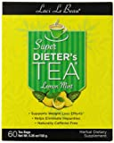 Laci Le Beau Super Dieter's Tea, Lemon Mint , 60 Count Box (Pack of 2)