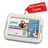 PAWISE Pee Pad Holder - Puppy Training Pads - Best Portable Potty Trainer - Indoor Dog Potty - Puppy Essentials - Dog Training Holder - Puppy Pad Holder (19'x14')