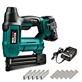 Cordless Brad Nailer, NEU MASTER NTC0023 Cordless Staple Gun for Upholstery, Home Improvement and Woodworking, Including 20V Max. 2.0Ah li-ion Battery, Charger